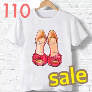 新品 ♡ 人気  大人可愛い サンダル Tシャツ 110(Tシャツ/カットソー)