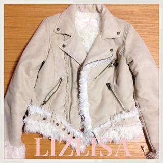 リズリサ(LIZ LISA)のLIZLISA*ムートンライダースJK(ライダースジャケット)
