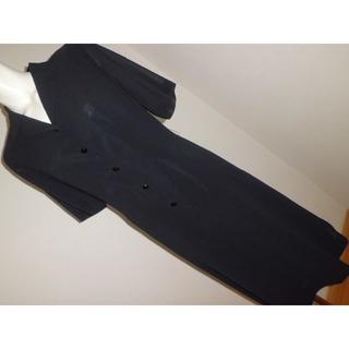 13号15号ゆったりサイズ大きいサイズ★喪服ブラックフォーマル半袖ワンピース(礼服/喪服)