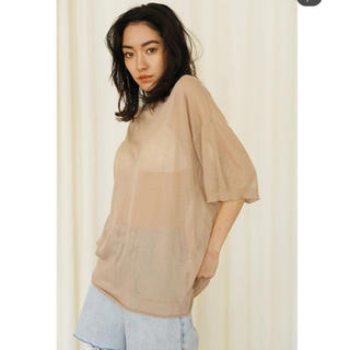 シールームリン(SeaRoomlynn)の新品未使用タグ付き sheerニットルーズTシャツ(Tシャツ(半袖/袖なし))