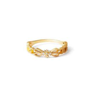 アガット(agete)のagete ピンキーリング K10 ピンクゴールド ダイアモンド(リング(指輪))