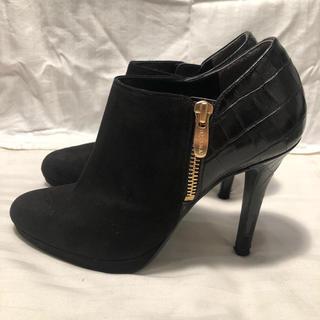 ダイアナ(DIANA)のDIANA ヒール ブーティー 黒 ブーツ(ブーティ)