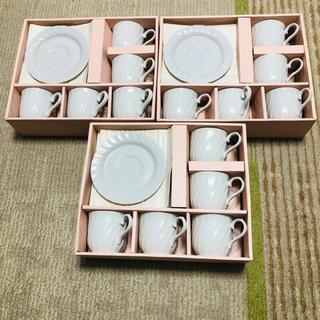 白 コーヒーカップ&ソーサー 15客 新品(食器)