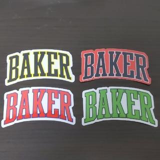 ベイカー(BAKER)の(縦5.9cm横10.3cm)BAKER ステッカー 1枚のお値段(スケートボード)