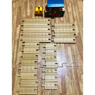 フィッシャープライス(Fisher-Price)の木製トーマス 線路 レール バレルローダー 直線(電車のおもちゃ/車)