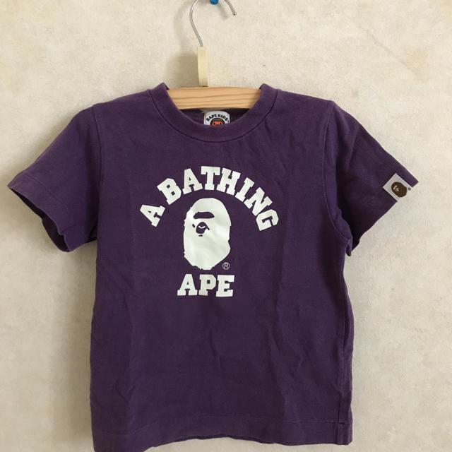 A BATHING APE(アベイシングエイプ)のエイプTシャツ 100サイズ キッズ/ベビー/マタニティのキッズ服男の子用(90cm~)(Tシャツ/カットソー)の商品写真