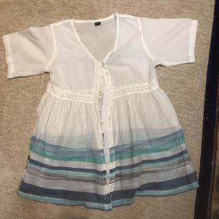 フリーサイズ前開き半袖(Tシャツ(半袖/袖なし))