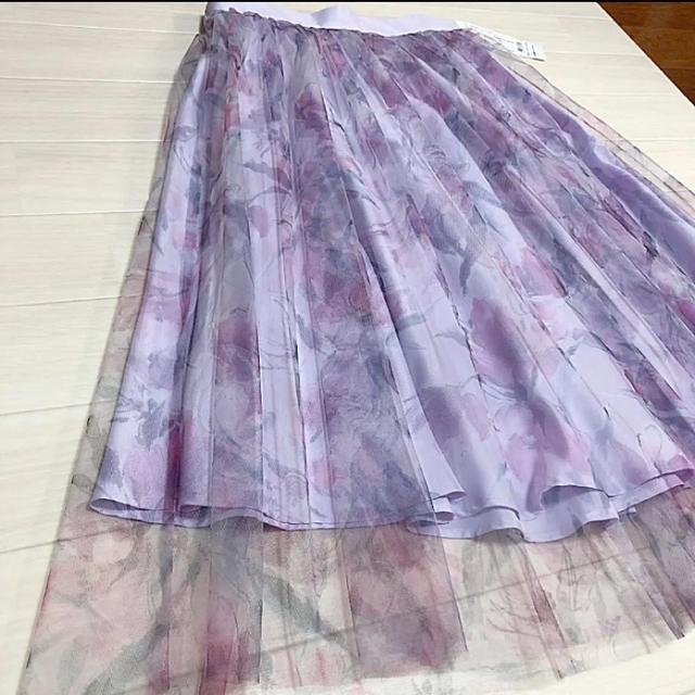 Debut de Fiore(デビュードフィオレ)の新品タグ付きレッセパッセスカート レディースのスカート(ひざ丈スカート)の商品写真