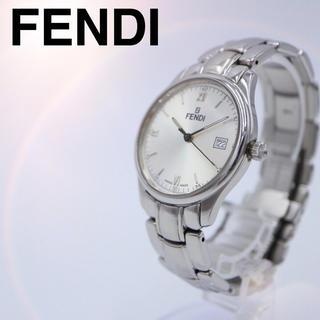 人気【動作OK】FENDI フェンディ 腕時計 210G シルバー メンズ