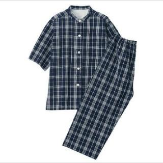 MUJI (無印良品) - 脇に縫い目のない サッカー織り 半袖パジャマ