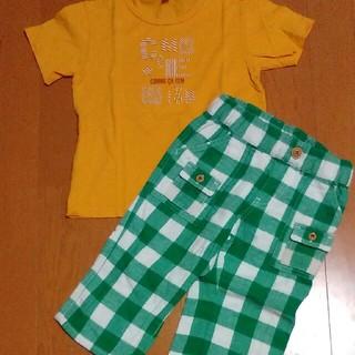 ムージョンジョン(mou jon jon)のコムサイズム半袖Tシャツ110cm  ムージョンジョンハーフパンツ110cm (パンツ/スパッツ)