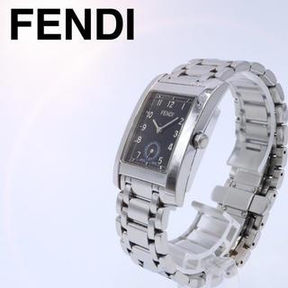 フェンディ(FENDI)の人気【付属品】FENDI 7000G スモセコ スクエア 腕時計 黒 メンズ(腕時計(アナログ))