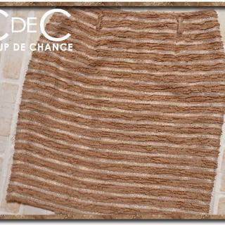 クードシャンス(COUP DE CHANCE)のクードシャンス ボーダースカート 茶(ミニスカート)