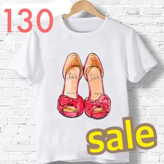 新品 ♡ 人気  大人可愛い サンダル Tシャツ 130(Tシャツ/カットソー)