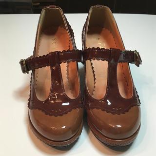 アクシーズファム(axes femme)のアクセス、エナメルレースシューズ♪(ローファー/革靴)