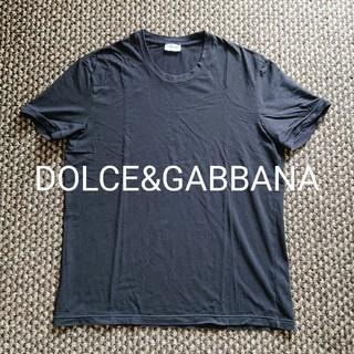 ドルチェアンドガッバーナ(DOLCE&GABBANA)のDOLCE&GABBANA ストレッチTシャツ クルーネック ドルガバ ブラック(Tシャツ/カットソー(半袖/袖なし))
