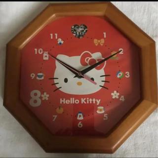 ハローキティ(ハローキティ)のキテイちゃん 掛け時計 新品未使用(掛時計/柱時計)