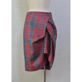 ヴィヴィアンウエストウッド(Vivienne Westwood)のVivienne Westwood Red Label 変形スカート 44(ひざ丈スカート)