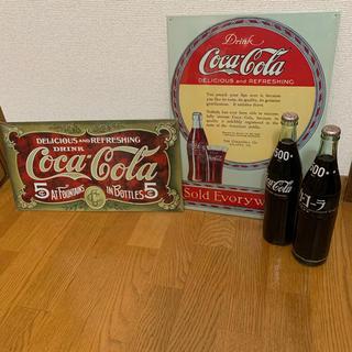 コカコーラ(コカ・コーラ)のコカコーラ 瓶 看板 レトロ(その他)