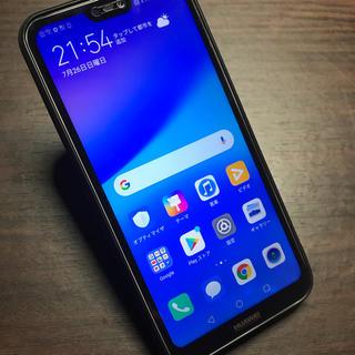 アンドロイド(ANDROID)の国内版SIMフリー P20 lite 64GB Android9.1 本体(スマートフォン本体)