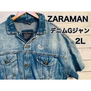 ZARA - #94 ZARAMAN デニムGジャン ダメージ 美品 XLサイズ