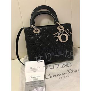 ディオール(Dior)の【10月中旬まで】Blue様専用 Dior レディディオール カナージュ(ハンドバッグ)