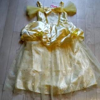 【👸応援価格📣】美女と野獣👑ベルprincessドレス/新品/130cm(ドレス/フォーマル)