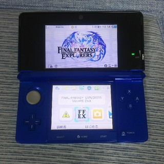 ニンテンドー3DS(ニンテンドー3DS)のNintendo 3DS  コバルトブルー 本体+タッチペン(携帯用ゲーム機本体)