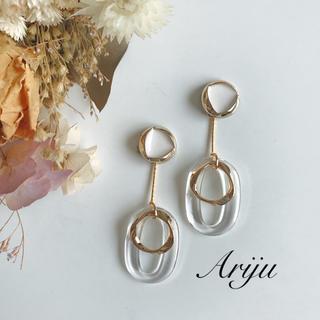 1006 clear gold pierce/earring(ピアス)