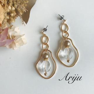 1009 gold clear pierce/earring(ピアス)