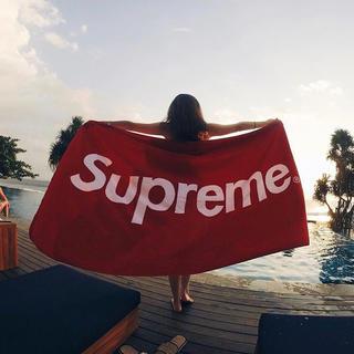 シュプリーム(Supreme)の12ss box logo beachtowel supreme ブランケット(タオル/バス用品)