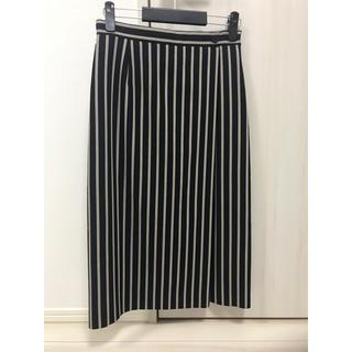アンタイトル(UNTITLED)のアンタイトル ラップ風ストライプスカート(ロングスカート)