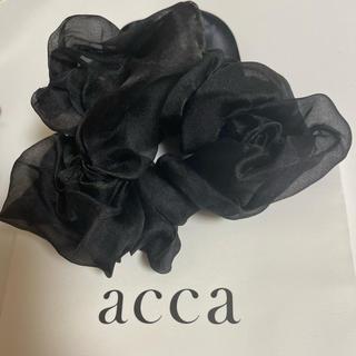 acca - シルクオーガンジースワロ付きシュシュ🥀