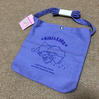 サンリオ(サンリオ)の新品 キキララ サコッシュ ショルダーバッグ  キャンバス地 ラベンダー 無地(ショルダーバッグ)