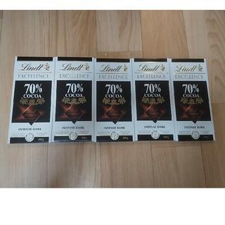 リンツ(Lindt)のリンツ エクセレンス 70%カカオ 100g 5枚セット(菓子/デザート)