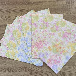 紙袋 花柄 7枚(ラッピング/包装)