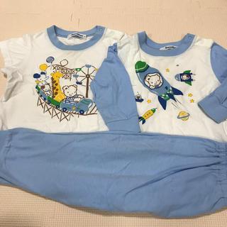 ファミリア(familiar)のファミリア パジャマ  80 長袖 半袖 セット(パジャマ)