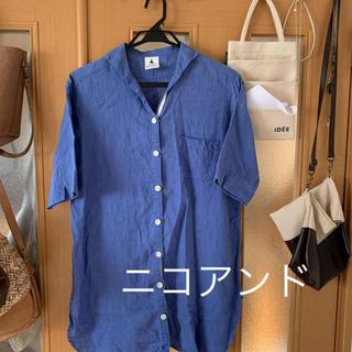 ニコアンド(niko and...)のニコアンド     リネンロングシャツ(シャツ/ブラウス(半袖/袖なし))