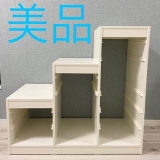 イケア(IKEA)のお値下げ 美品 IKEA イケア トロファスト おもちゃ 収納 白 おもちゃ箱(収納/チェスト)