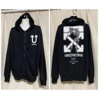 アンダーカバー(UNDERCOVER)の定価85800円 off-white×UNDERCOVER パーカー S 黒(パーカー)