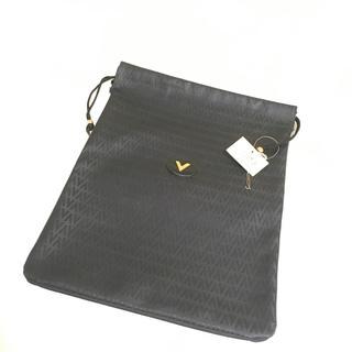 ヴァレンティノ(VALENTINO)のValentinoヴィンテージ巾着袋バッグ黒ブラック新品未使用ブランド(セカンドバッグ/クラッチバッグ)