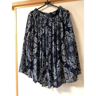 アフリカタロウ(AFRICATARO)のシフォン  プリーツスカート (ひざ丈スカート)