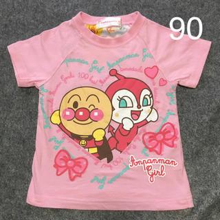 バンダイ(BANDAI)のアンパンマン Tシャツ ピンク 90(Tシャツ/カットソー)