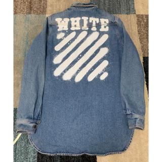 オフホワイト(OFF-WHITE)のSALE off-white オフホワイト  スプレーロゴデニムジャケット(Gジャン/デニムジャケット)