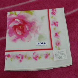 ポーラ(POLA)の【新品】ポーラ コラーゲンハンカチ 花柄(ハンカチ)