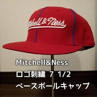ミッチェルアンドネス(MITCHELL & NESS)のMitchell&Ness フロントロゴ刺繍 ベースボールキャップ 7 1/2(キャップ)
