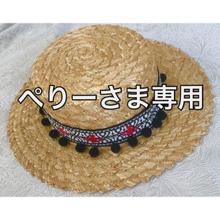 ヴィヴィアンウエストウッド(Vivienne Westwood)のカンカン帽(麦わら帽子/ストローハット)