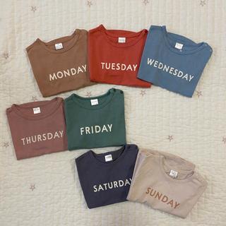 ザラキッズ(ZARA KIDS)のteteatete テータテート 曜日Tシャツ 7点セット(Tシャツ/カットソー)