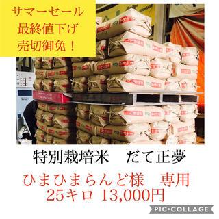 ひまひまらんど様専用*だて正夢25キロ精米(米/穀物)