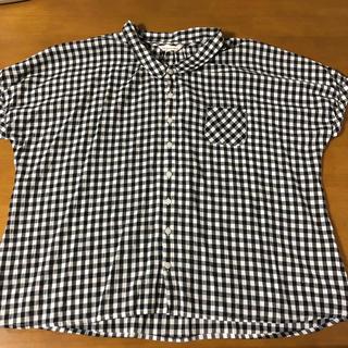 サンカンシオン(3can4on)のチェックシャツ(シャツ/ブラウス(半袖/袖なし))